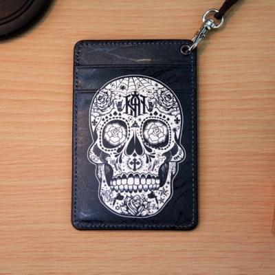 (new) Vintage card case (skull)