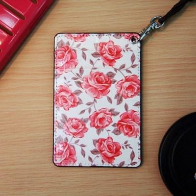 (new) Vintage card case (Ivory Flower)