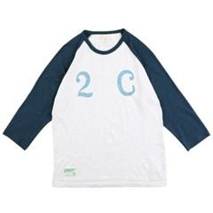 [2ND CORNER]세컨드코너 칠부 티셔츠 PRINCETON - WHITE