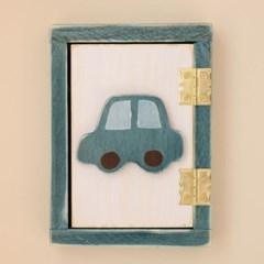 자동차 원목 스위치커버(블루)