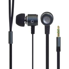 플랫 케이블 알루미늄 이어폰 (그레이) [276-822128]_(10977576)