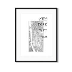 지도 뉴욕 맵 인테리어 액자 소품 일러스트_NEW YORK
