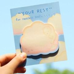 [artist in memo] 구름 메모잇