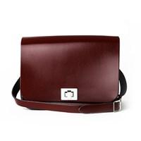 Patent Oxblood Red Medium Pixie Bag
