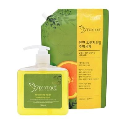[에코띠끄] 천연 오렌지 오일 친환경 주방세제 500ml+리필 1000ml