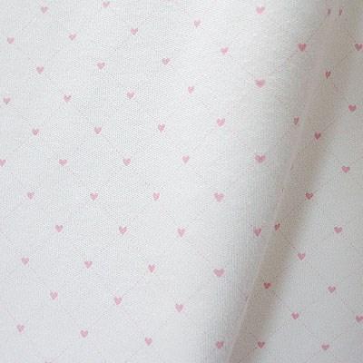 [오가닉코튼] 40수 양면 하트 나염 원단(핑크)