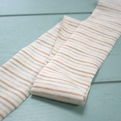 [오가닉코튼] 멜란스트라이프 바이어스 원단(knit)