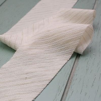 [오가닉코튼] 연그린 스트라이프 바이어스 원단(knit)
