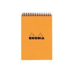 [RHODIA]로디아 클레식 스프링 노트패드A6격자(오렌지)13500