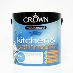 크라운 항 곰팡이 페인트(화이트,밀크화이트) 2.5L