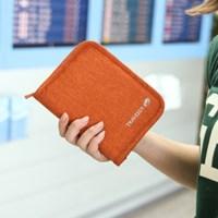 트래블러스 폴더 ver.4_여권,지폐,동전을 함께 수납하는 여행지갑
