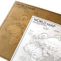 WORLD MAP 2장 세트 (White + Kraft)