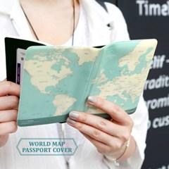 월드맵 여권커버