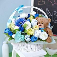 [아기옷꽃다발] 블루_바스켓L