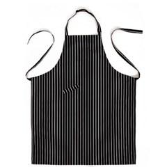 #AA1410 stripe chest apron (Black)