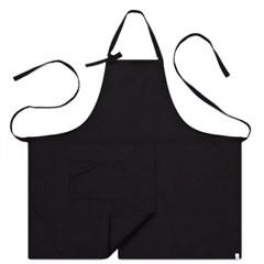 #AA1414 basic chest apron (Black)