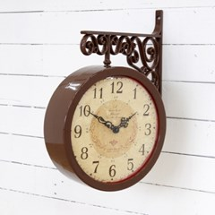카리브 양면시계_브라운