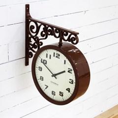 고딕 양면시계_브라운