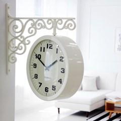 고딕 양면시계_아이보리