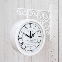 스톡홀름 양면시계_화이트
