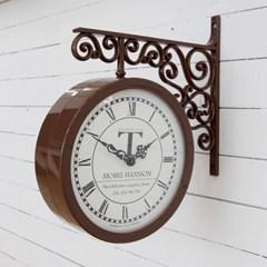 스톡홀름 양면시계_브라운