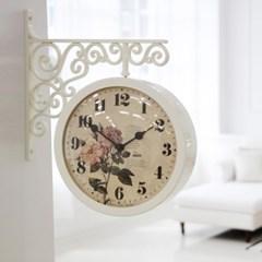 로맨틱 로즈 양면시계_아이보리
