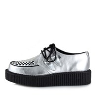 [T.U.K] A8523 Silver Metallic Round Toe Lpow Sole Creeper