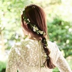 수국 꽃잎장식 화관