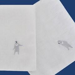 chic boy bear handkerchief