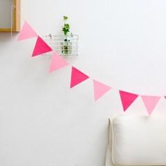 garland-핑크 삼각