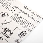 Fabric Sticker - 87 newspaper : at home