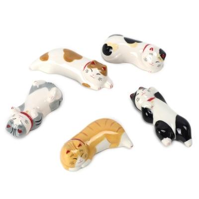 마네키네코 고양이 수저받침세트