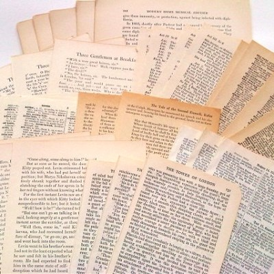 Vintage Book Pages (20장)