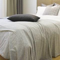 Soft Knit Blanket & Bedrunner(니트 블랑켓&베드러너-밝은그레이)