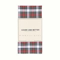Tartan Plaid Handkerchief (Modern White)