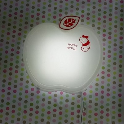 [LAMPDA] LED형 happy 애플 벽등 (화이트)