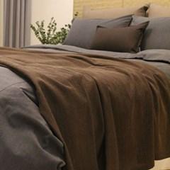 Natual Cotton Blanket & Bedrunner(코튼 블랑켓&베드러너-브라운)