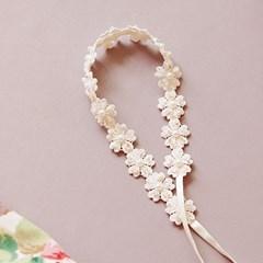 [하우즈쉬나우] 웨딩 flower lace band (스와로브스키 밴드)