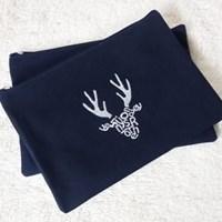initials deer pouch
