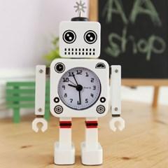 New 감성 로봇 알람 시계(화이트)