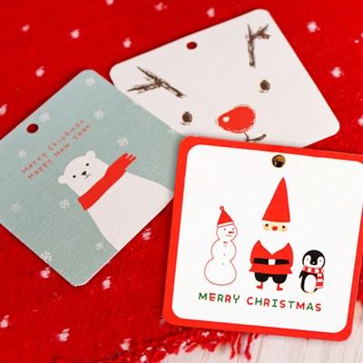 크리스마스 tag 10set