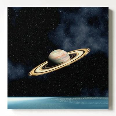 캔버스 판넬 북유럽 인테리어 우주 액자 토성과 은하수