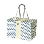 PLUSBOX GIFT BAG (Purple & Emerald Stripes)