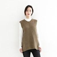 waffle vest(2color)