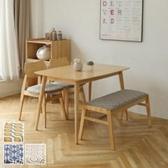 파스토 4인 식탁세트(의자/벤치)/패브릭