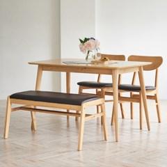 뉴베니즈 4인 식탁세트(의자/벤치)