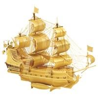 3D 메탈미니 해적선(골드)