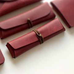 Pencil Case_Cross Folding [French Claret]