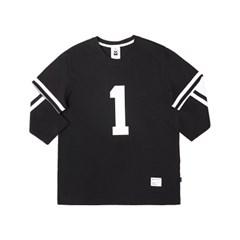 MICKEY 1 FOOTBALL TEES (BLACK)