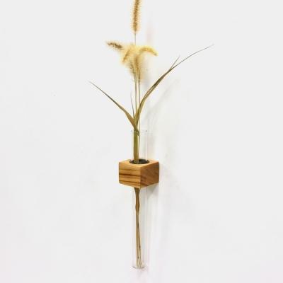 원목 시험관 벽걸이꽃병